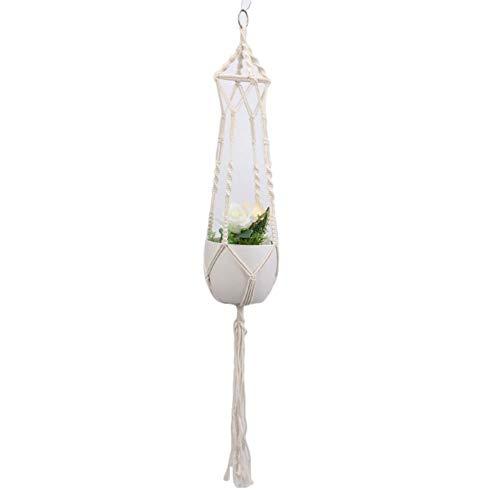 Demarkt bloempot, touw, plantenhanger, macramé, hanglamp, plant, hanger, katoen, bloempot, decoratie, tuin, kamerplanten D 100 cm.