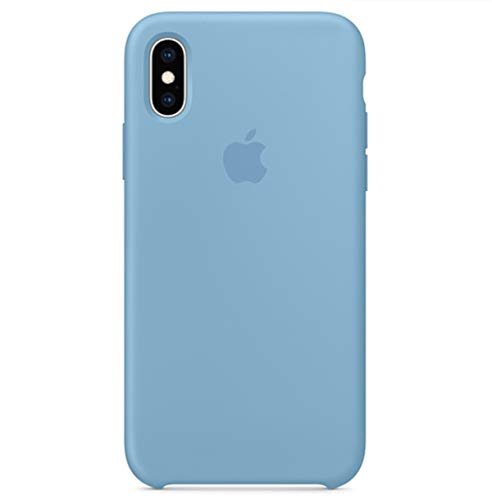 BigMike MikeCase Compatible for iPhone Xs Case, Liquid Silicone Gel Rubber Shockproof Case Soft Microfiber Cloth Lining Cushion Compatible with iPhone Xs - 5.8 inch (Cornflower)