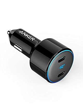 Anker USB C Car Charger, 48W 2-Port PIQ 3.0 Fast Charger Adapter, PowerDrive+ III Duo with Power Delivery for iPhone 11/11 Pro/11 Pro Max/XR/XS/X, Galaxy S10/S9, Note 9, Pixel 3/2, iPad Pro and More