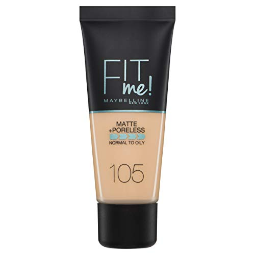 Maybelline Fit Me Matte & Poreless Nr 105 Natural Ivory, 1er Pack (1 x 30 g)