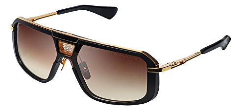 Dita MACH-EIGHT MATTE BLACK YELLOW GOLD/BROWN TO CLEAR 55/20/145 Mens Zonnebrillen