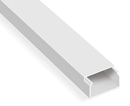 20m Kabelkanäle Selbstklebend Weiß (30x20 mm / 20x 1m) - Kabelkanal mit Schaumklebeband fertig für die Montage
