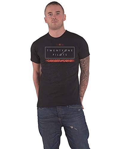21 Twenty One Pilots T Shirt Scale Pattern Strip Logo Ufficiale Uomo nuovo nero