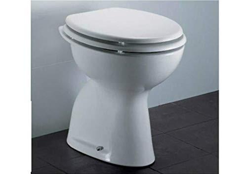 VASO WC con scarico a parete serie TENAX DOLOMITE bianco + coprisedile