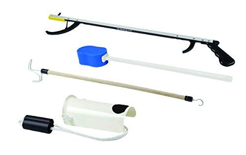 "FabLife 86-0070 Kit de cadera con 66 cm de alcance, esponja contorneada, ayuda para calcetines formados, 32"" Reacher, Dressing Stick, 1 ⭐"