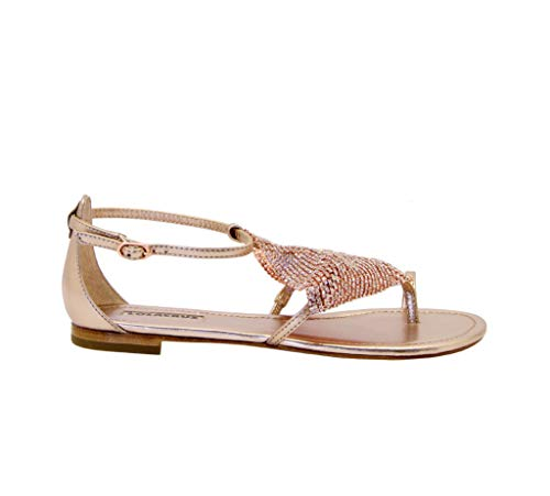 Luxury Fashion | Lola Cruz Dames 136Z10BKV20COBRE Goud Leer Sandalen | Lente-zomer 20