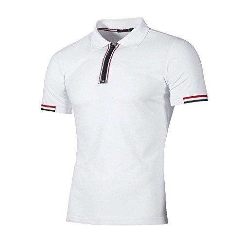 Azruma Herren Poloshirt Basic Kurzarm Polohemd Slim Fit Revers Shirt Polo-Shirts urzärmliges T-Shirt Geschäft Freizeit Shirt Classic Kurzarmhemd