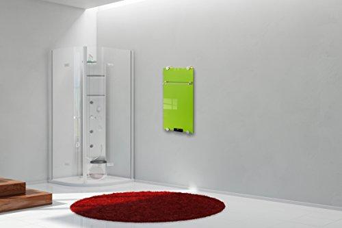 Wand-Luxus-Elektro-Glasheizkörper Flächenheizung 500w Verde mit Fernbedienung Thermostat Bild 2*