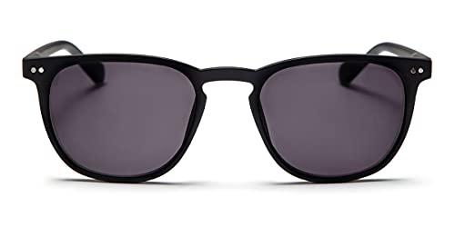 Looplabb Zonneleesbril THE GEORGE/BLACK - Hippe Zonneleesbril op sterkte: +1.50 - Trendy Zonneleesbril voor Heren & Dames