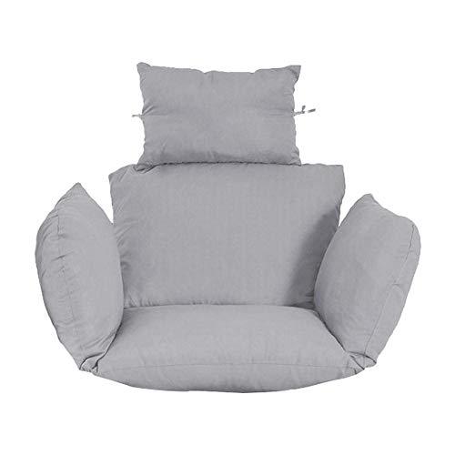 YQGOO EI Hängematte Stuhl Kissen Schaukelsitz Kissen Hängesessel Pad für Garten Schaukel Sitz für Indoor Outdoor Patio Yard Garden Grey (kein Stuhl)