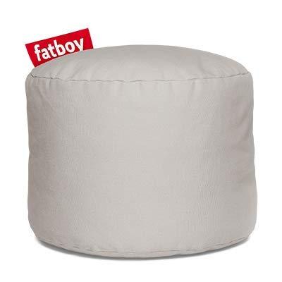 Fatboy® Point Hocker Stonewashed | Runder Sitzhocker aus Baumwolle in Silber | Trendiger Poef/Fußbank/Beistelltisch | 35 x ø 50 cm