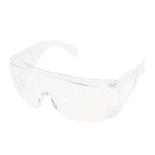 Milageto Gafas Protectoras de Seguridad de Laboratorio Totalmente Transparentes Reemplazo de Lentes ópticos PPE