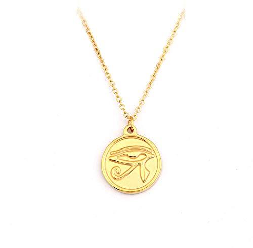 Ronde ketting gepersonaliseerde retro hanger 18K vergulde sleutelbeen ketting dames korte trui ketting goud zilver optioneel,Gold