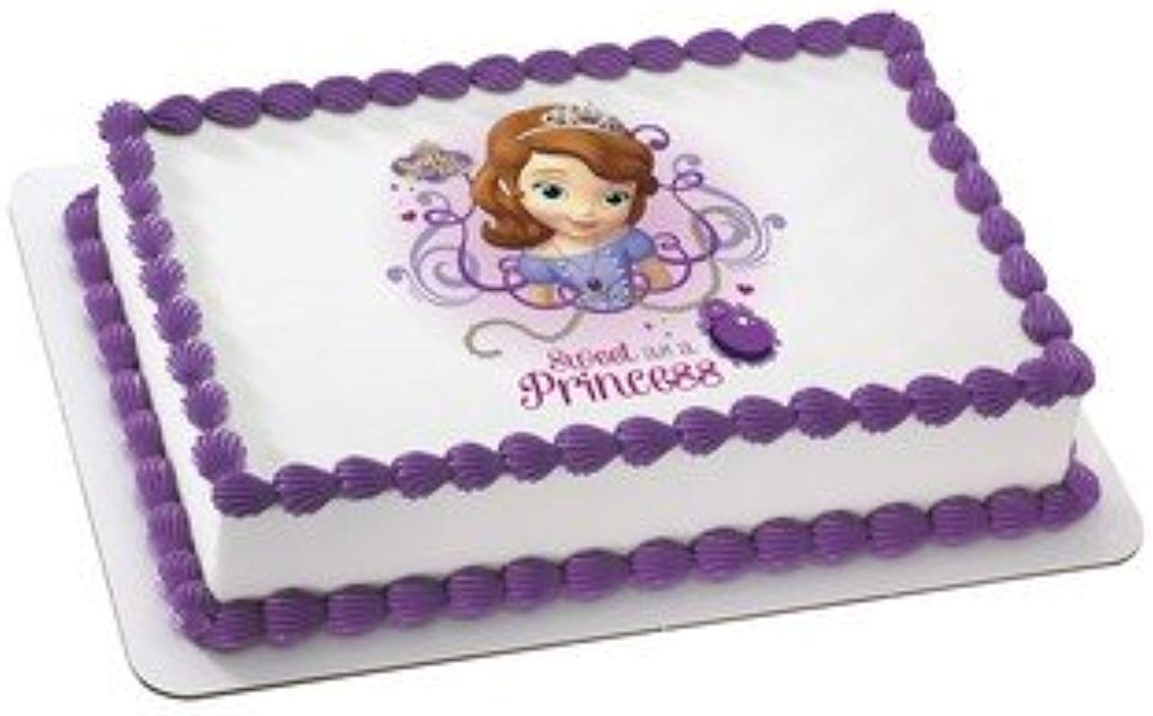 Sofia The First Sweet As A Princess Edible Icing Image 1 4 Sheet Cake Topper By Whimsical Practicality