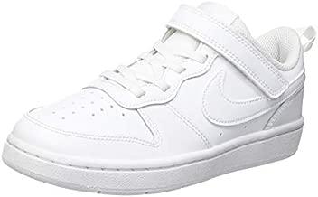 Nike Kids Court Borough 2 Low Top Sneaker, White, 5