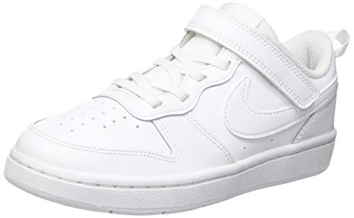 Nike Court Borough Low 2 (PSV), Scarpe da Basket Unisex-Bambini, White/White-White, 33 EU
