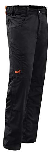 strongAnt Arbeitshose komplett Stretch Männer Berlin Pro Bundhose 245 GR - Made in EU - Schwarz Größe: 46
