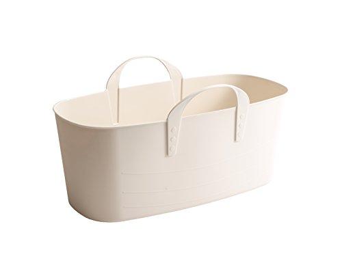 「スタックストー」収納ボックス baquet L slim(バケットスリム) ホワイトグレー 10L