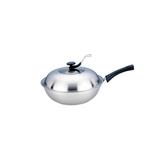 CJTMY Non Stick Pan ohne Beschichtung, Gas Double Layer Pan, Gas Cooker Universeller