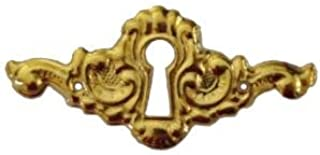 Elegant Stamped Brass Keyhole Cover Antique Reproduction | S-121