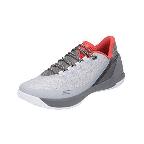 Under Armour UA Curry 3 Niedrig Herren Basketball Turnschuhe 1286376 Turnschuhe - Grau Grau Rot 289, 10 UK/45 EU/11 US