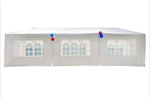 N \ A Carpa para fiestas con protección UV, para jardín, boda, 110 g/m², polietileno, con 8 paneles laterales, 3 x 9 m