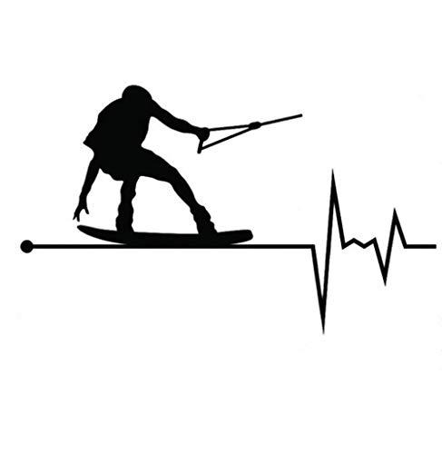 Auto autoaufkleber aufkleber 14,5 CM * 8,6 CM Wakeboard In My Heartbeat Pulse Vinyl 1 Stück