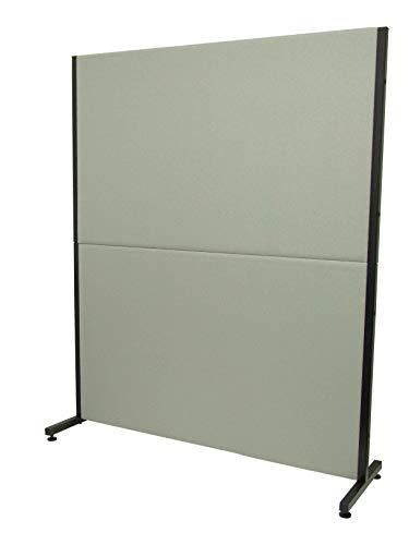 PIQUERAS Y CRESPO Modelo Valdeganga - Biombo separador para oficinas y centros de trabajo, desmontable y con estructura de color negro - Tapizado en tejido BALI color gris claro
