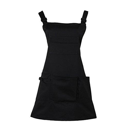 Nanxson Grembiule da donna regolabile con Stilista del salone grembiule da lavoro con tasche CF3010 (nero)