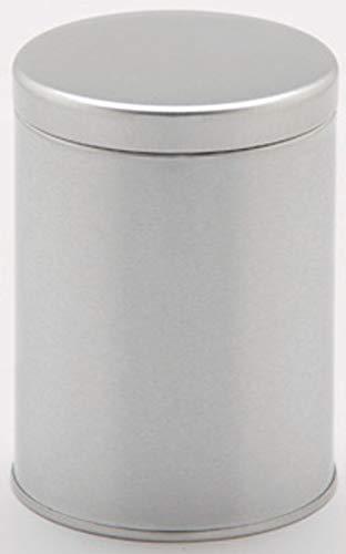 国産 コーヒー&ティー キャニスターCoffee&Tea canister400-500g 防湿リング保存缶/シルバーマット/つや消し