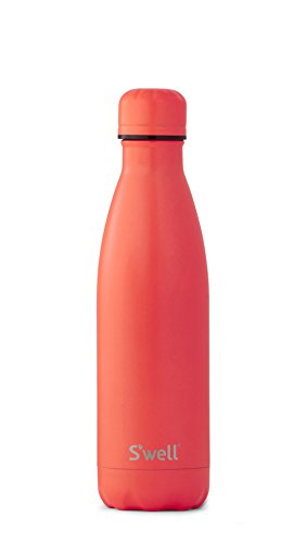S'well Vacuum Insulated Stainless Steel Water Bottle, 17 oz, Birds Of Paradise with matching Cap