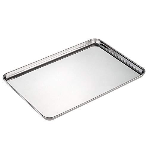 SODIAL 3 Stück Flaches Unteres Quadratisches Tablett Haus Verdicktes Tablett Küche Sushi Lagerung Tablett Barbecue Tablett