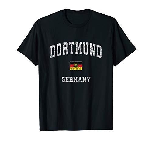 Dortmund Germany Vintage Athletic Sports Design T-Shirt