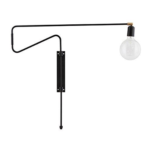 House Doctor - Wandlampe - Swing - schwarz - mit beweglichem Wandarm