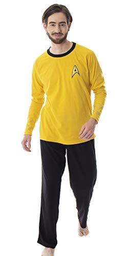 Star Trek Original Series Men's Captain Kirk Uniform Costume Sleepwear Pajama Set (Large) -  Intimo, STK0002RGPM-LG