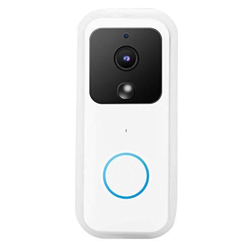 ZCZZ Timbre inteligente Wifi B60 1080p inalámbrico Hd Video portero con visión nocturna infrarroja, lente gran angular de 166° y detección de movimiento PIR