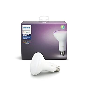 Philips Hue White and Color Ambiance BR30 60W Equivalent Dimmable LED Smart Flood Light, Newest Model, Works with Alexa, Apple HomeKit, and Google Assistant
