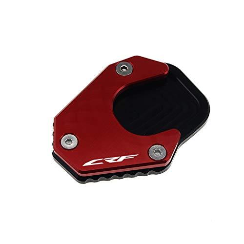Motorcykel Kickstand Extender För Hon & da CRF 250 RALLY CRF250L CRF250 2017-2020 Motorcykel Kickstand Foot Side Stand Extension Pad Support Plate Förstora Stativ (Färg : Svart)
