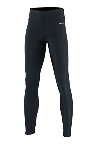 Verus – Calça legging feminina MMA BJJ para treino, academia, exercícios físicos, treino, luta, Preto, X-Large