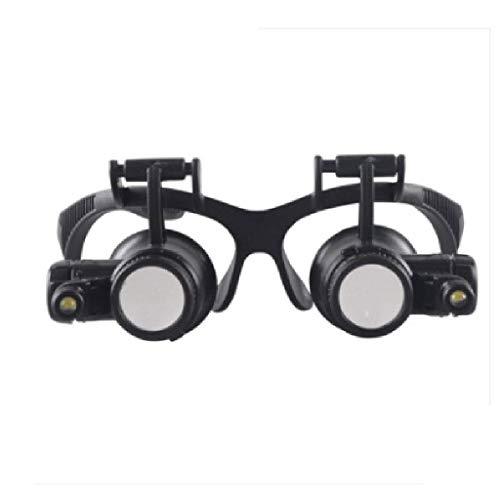 Reparación de lupas Asistencia con discapacidad visual: lápices de lupa montada en la cabeza de las gafas de alta potencia LED con luces 10 veces la reparación de teléfonos móviles Identificación de j