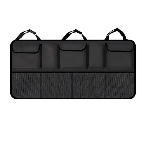 YANYAN MAYALI Capacidad ARTERA Capacidad Organizador de troncales Ajustable Backseat Oxford Bolsa de Almacenamiento Universal Automóvil Asiento Atrás Organizadores Accesorios (Color Name : A Black)