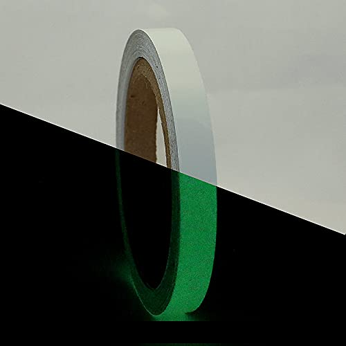 JVCC GLW Glow in the Dark Tape [6 Hour]: 1/2 in. x 30 ft. (Luminescent Lime Green)