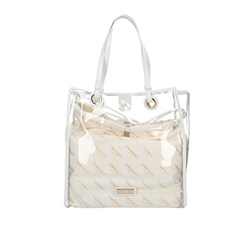 Twinset Donna Borsa Shopper Trasparente Bianco MOD. TA7180