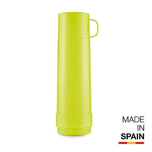 Valira Colección 1969 - Botella de vidrio aislante de doble pared con vacío de 1 L hecha en España, color verde