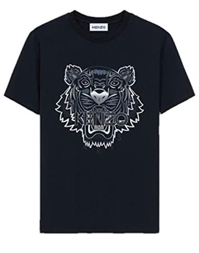 Kenzo Tiger - Camiseta para hombre (talla pequeña), color negro y gris