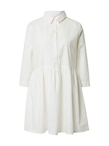 Vila Clothes Damen VIMOSOPHIE 3/4 Tunic/SU Bluse, Snow White, 42