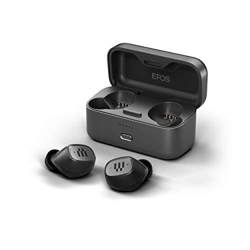 EPOS Auriculares Inalámbricos Híbridos para Gaming GTW 270 - Auriculares Bluetooth - Auriculares Intraurales con Reducción de Ruido, Micrófonos Duales, IPX 5, Estuche de Carga, 20 h