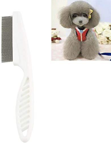 CathEU Peine de pulgas para peluquería de peluquería, eficaz contra pulgas, Olor lechoso, plagas mordidas, garrapatas, pulgas, parásitos (White)