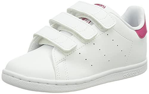 adidas Unisex buty gimnastyczne dla dzieci Stan Smith Cf I, Ftwr White Ftwr White Bold Pink - 26.5 EU