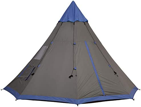 Outsunny Large 6 Person Metal Teepee Camping Tent with Weather Protection Portable Design and product image